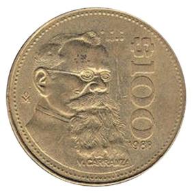 Monedas Antiguas De 100 Pesos 1984-1992 (lote 80 Pzas)