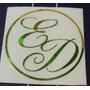 Iniciales En Vinil 4 Cm. Sticker Para Tarjetas, Copas, Etc