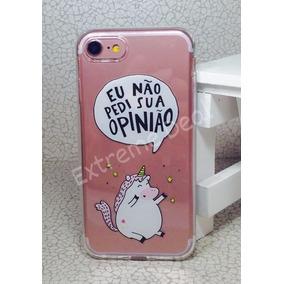 Capinha Capa Case Iphone 7 Eu Nao Pedi Sua Opiniao Unicornio