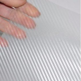Adesivo Envelopamento Fibra Carbono Transparente Carro Moto