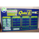 Cartel Quini 6 Cuadruple Articulos Para Agencia De Quiniela