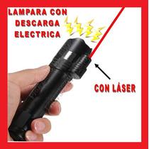 Lampara Tactica Led Descarga Electroshock Toques Enviogratis