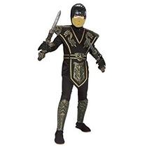 Disfraz Para Niño Traje Ninja Guerrero Dragón De Oro Big Bo
