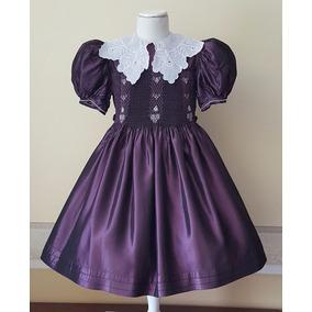 Vestido Fiesta Casamiento Importado Seda Nena 6-7 Años