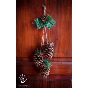 adorno navideo colgante de pias para puerta y jardin