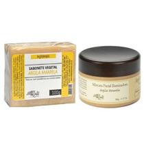 Kit Natural Mascara Iluminadora + Sabonete Argila Amarela