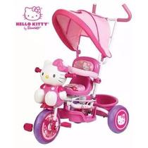 Carriola Triciclo Hello Kitty 3 En 1 Prinsel.