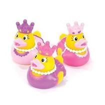 Una Docena (12) Favores Princesa Party Ducky De Goma