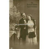 Pr11 Postal Antigua Romantica Rusa Arbol Navidad