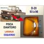 Pisca Dianteiro D-20 1993 À 1996 Laranja Esquerdo Novo D20