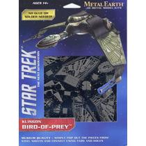 Rompecabezas Metalico 3d Bird Of Prey Star Trek