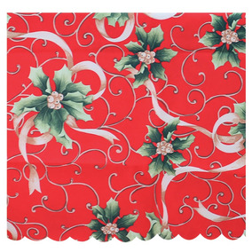 Toalha De Mesa Bico Vermelha 150 X 220 Cm