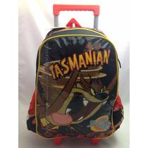 Mochila C/ Rodinhas Tasmanian Taz Looney Tunes