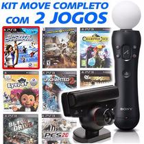 Playstation Move Kit Câmera + 1 Controle + 2 Jogos + Oferta!
