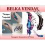 Tatuagem Temporária Penas De Ganço Kit Com 3 Tatuagens