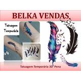 Tatuagem Temporária Feminina Kit Com 3 Tatuagens