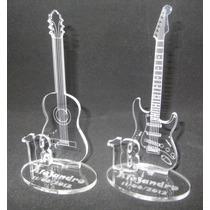 Souvenirs 18 Años Guitarra Electrica / Criolla En Acrilico