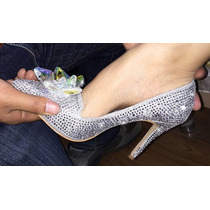 Sapato Scarpin Cinderela Debutantes Noivas Pronta Entrega