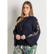 Blusa Plus Size Preta - Festa - Roupa Tamanhos Grandes
