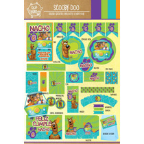 Kit Imprimible Personalizado Scooby Doo Deco Y Candy Bar !