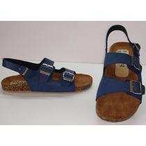 Sandalias Tipo Birkenstock Milano 103 Azul Marino Oysho