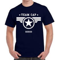 Playera Team Cap Capitán America Personalizada H206