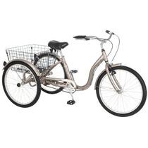 Schwinn Meridian Triciclo (26 Pulgadas Ruedas), Plata Oscur