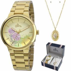 817ad0d80c2af Relogio Feminino Com Conjunto Allora - Relógios De Pulso no Mercado ...