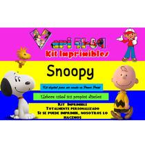 Kit Imprimible Snoopy Y Charles,fiesta,invitación,tarjetas