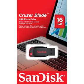 Pendrive 16gb Sandisk Cruzer Blade 100% Original