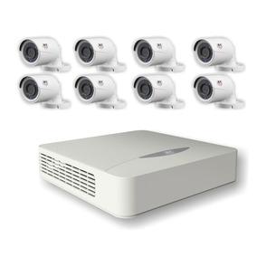 Kit Monitoramento Dvr 8 Canais + 8 Câmeras Hd720p - Jfl