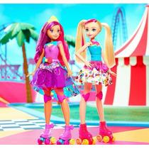 Barbie En Mundo De Videojuegos Patines Y Patinadora Pack