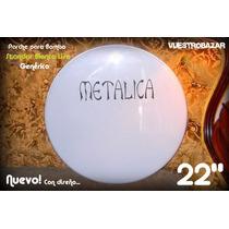 Vendo Parche Sencillo Para Bombo 22 Blanco Liso Con Diseño