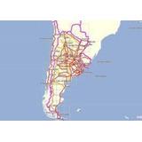 Mapas Gramin Argentina Países Limítrofes, Brasil, Radares