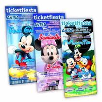 Diseño De Invitaciones Imprimibles Mickey Mouse