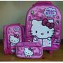 Hello Kitty Set Pack 3 Pzas Maleta Lonchera Cart Oferta!