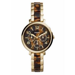 Reloj Fossil Es3925 Oro/tortuga Dama Original Envío Gratis*