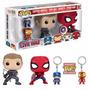 Funko Pop Pack Capitan America,iron Man,spiderman Y Hawkeye