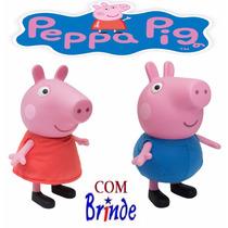 1 Boneca Peppa Pig 1 George Pig Multibrink Original