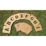 Stencil Estencil Letra Vazada Alfabeto 15cm De Altura