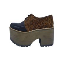 Zapato Calzado Plataforma Mujer Sim Cuero Mia Milena.