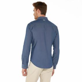 Camisa Oggi Ml X1541309 Marino Hombre