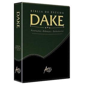 Bíblia De Estudo Dake Rc Dicionário Expandido Preta/verde