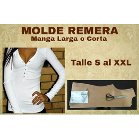 Molde Remera Escote V. Talle: S Al Xxl Moldería.