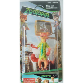 Kit Zootopia Disney Com 6 Bonecos No Blister + Frete Grátis