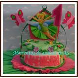 Torta Tinkerbell 2 Kg Decorada Como En Foto
