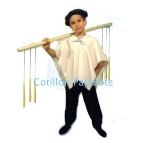 Disfraz Vendedor Ambulante Velas Boina Poncho Patrio Acto