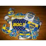 Boca Juniors Combo Cotillón Linea Original Con Holograma
