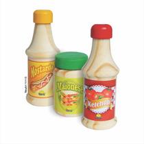 Coleção Brincando De Comidinha - Ketchup, Mostarda E Maiones