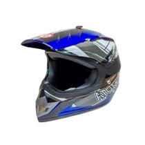 Casco Motocross Cross Moto Azul Rojo Evolution Envio Gratis!